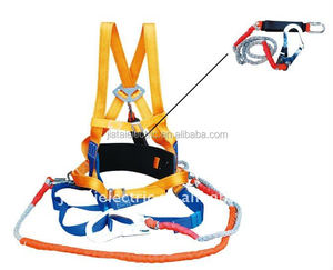 100% Polyester materials backpack single hook/double hook safety harness