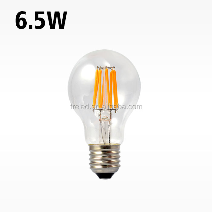 A60 6.5W replace 65W E27 230V 2300-2600K Led Filament LED bulbs
