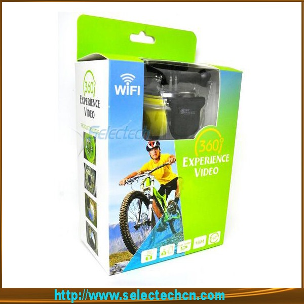The latest hot 4K Ultra HD Wifi Sport Cam Driving Panorama Action 360 Degree Video Camcorder