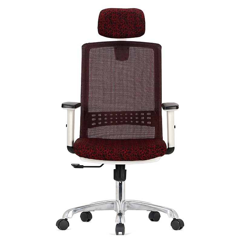 Ergonomic executive Fabric Office Chair Swivel High Back Red