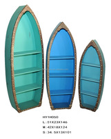 Home DIY Decorative Wall boat shape storage shelves