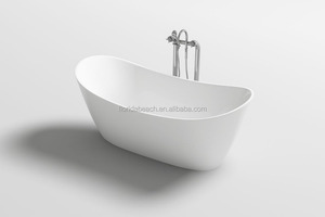 Freestanding tub, easy to clean indoor bathtub, modern simple style acrylic spa