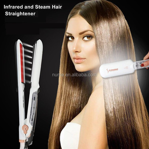 2018 Newest professional infrared steam hair straightener with argan oil