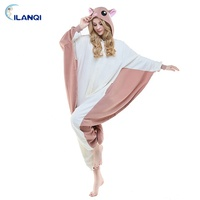 Hot Selling Polyester Flying Squirrel Animal Onesie Pajamas For Adults