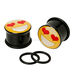 New Arrival Acrylic Love Emoji Plugs Ear Plug 00g customized size