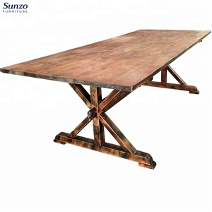 Rustic Wedding Farmhouse Wooden Folding Dining Table