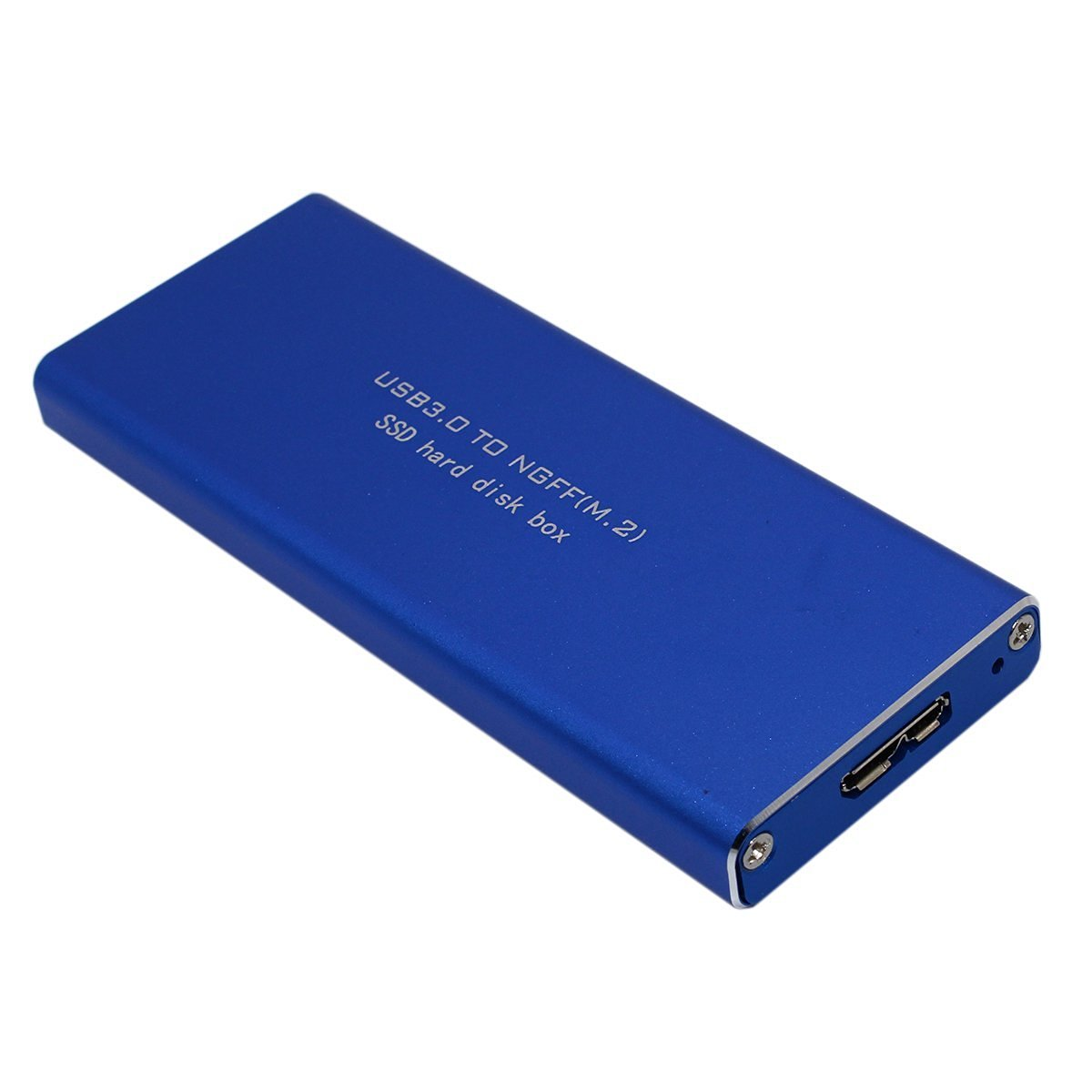SNANSHI USB 3.0 to NGFF M.2 B Key SSD Hard Disk Box External Enclosure Case Blue