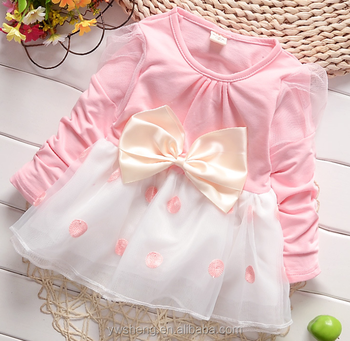 Hot children dress for 2-7 year old little girl party dress picture children frocks design