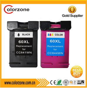 Compatible hp printer ink 60,ink cartridge for hp 60xl use for HP D2500 D2560 D2660 F4200