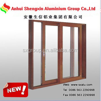 Wooden Finish Aluminum Alloy Sliding Door And Windows Frame - Buy ...
