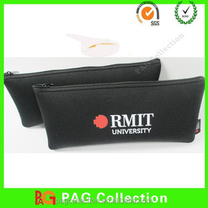 Logo imprint neoprene Custom Pencil Bag, Custom Pencil pouch