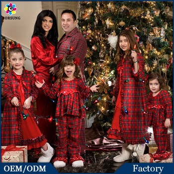 cotton frocks designs for cutting red plaid matching plus size