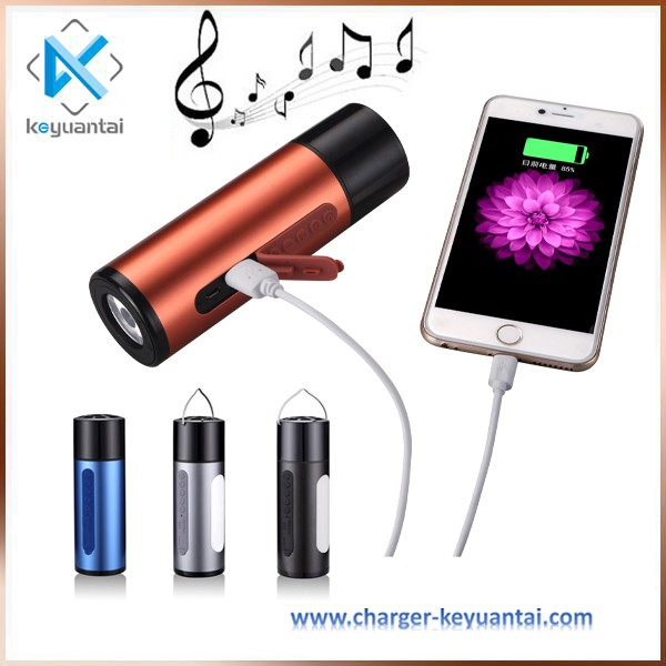 5200mAh power bank charger promotional gift bluetooth speaker, mp3 player bluetooth speaker waterproof wireless outdoor speaker