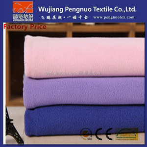 [Factory Price] Softball fleece fabric , cheap 100%polyester one/both side brushed micro polar fleece fabric