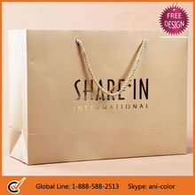 China Wholesale Customized Paper Gift Bag with Hot Foil Stamp Logo