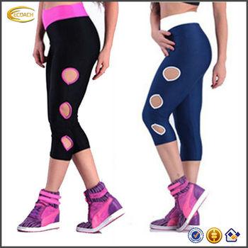 Grosir Olahraga Pakaian Yoga Peregangan Lembut Di Bawah Lutut Celana Ketat Celana Pendek Legging Buy Pakaian Pakaian Celana Yoga Product On Alibaba Com