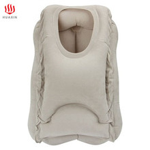 Comfortable soft Air Inflatable neck Travel Pillow for Sleeping