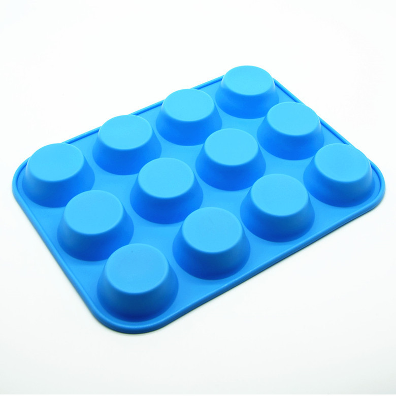 quality 12 Cup Non Stick Premium Silicone Cake Mold Mini Muffin Cupcake Pan Baking Mold Cups