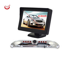Night vision infrared backup car camera with 4.3inch lcd screen monitor for America car