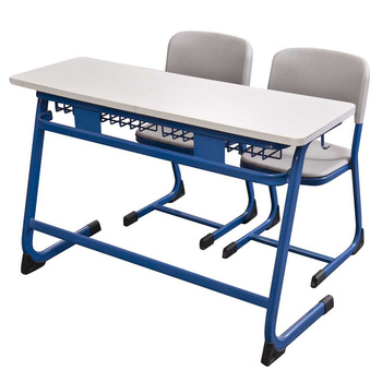 New design school desk attached chair with high quality