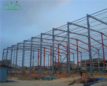 Hot selling affordable Light steel Glasses Roof prefab warehouse workshop