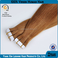 Wholesale european sticker remy kinky curly double tape hair extensions