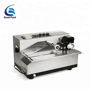 Automatic high speed plastic pouch date coding machine