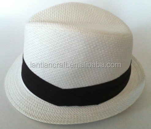 Wholesale fashion WHITE PAPER fedora hats for men