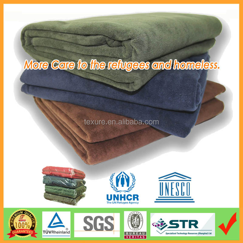 High Thermal Refugee Blanket,1kg 150x200cm Donation Blankets for Homeless People by Reliable Factory over 10 years