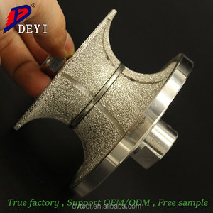 HSS Diamond grinding wheel abrasive milling cutter router bit for granite