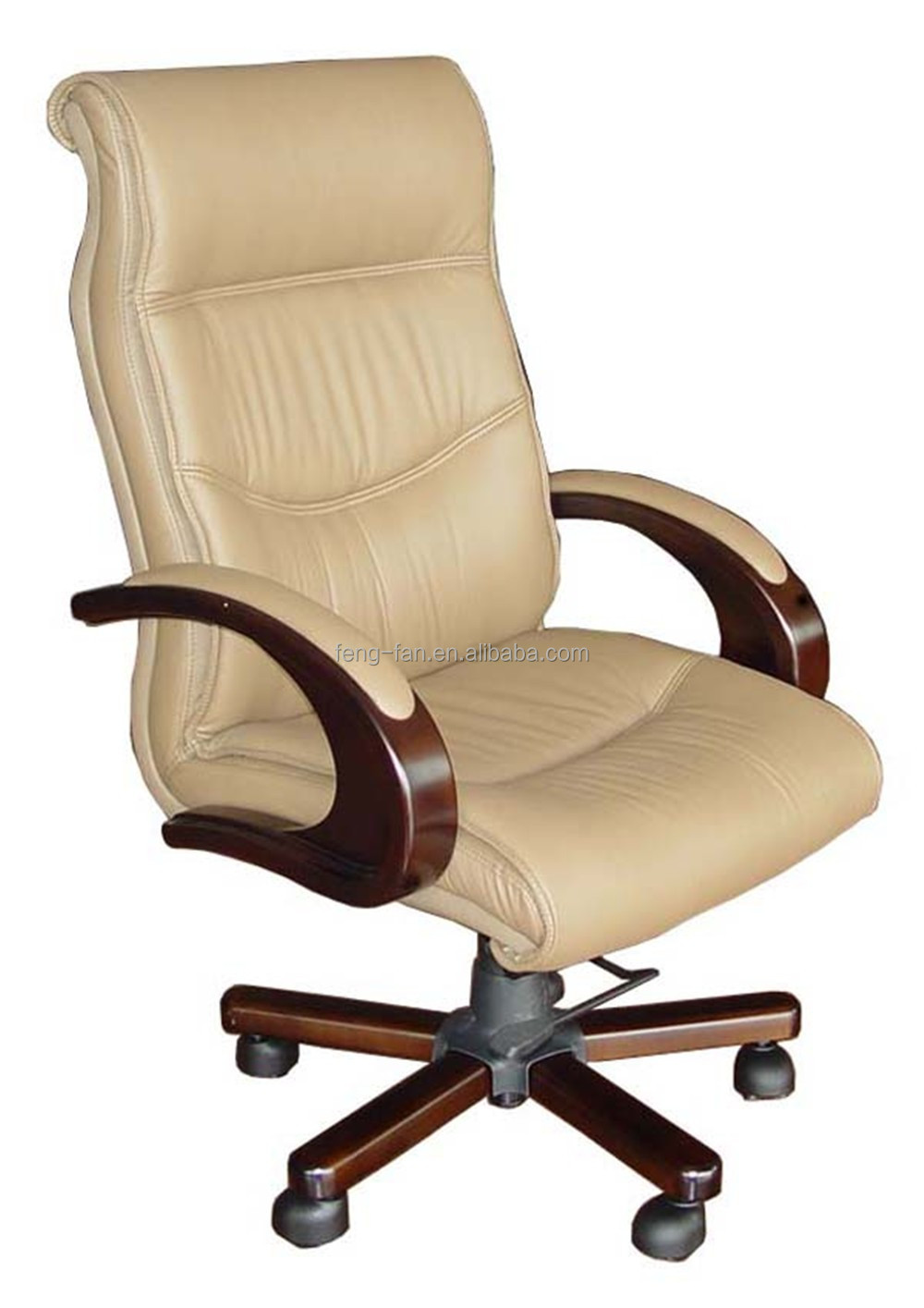 Cream color executive swivel office chair / office furniture / task chair with locking mechanism