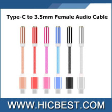 High Quality 3.5mm Female Audio AUX Jack to USB 3.0 Type c Male OTG Converter Adapter Cable