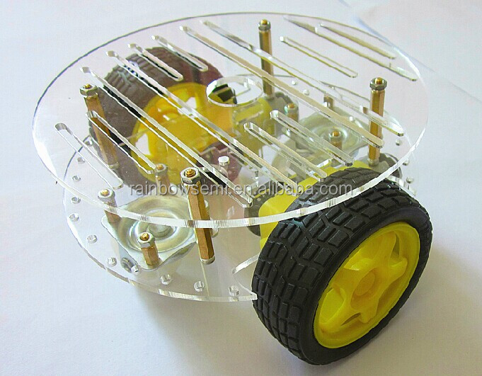 2 Wheel Car robot intelligent car kit DIY