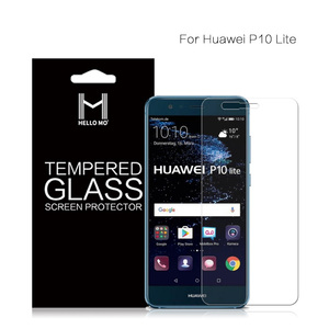 Ultra smooth cell phone 9h hardness tempered glass screen protector for Huawei P10 lite