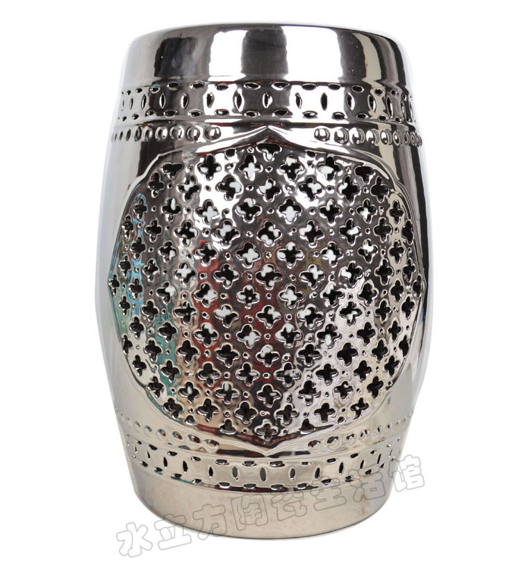 ... get quotations elegant silver chinese lattice ceramic stool home decoration dressing stool shoes changing stool use ...  sc 1 st  NALD & Chinese Stools Ceramic Garden Accents The Best Deals For Apr 2017 ... islam-shia.org
