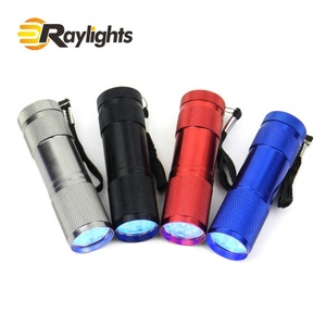 Promotion Gift 9leds Mini White Light or 365nm UV LED Flashlight