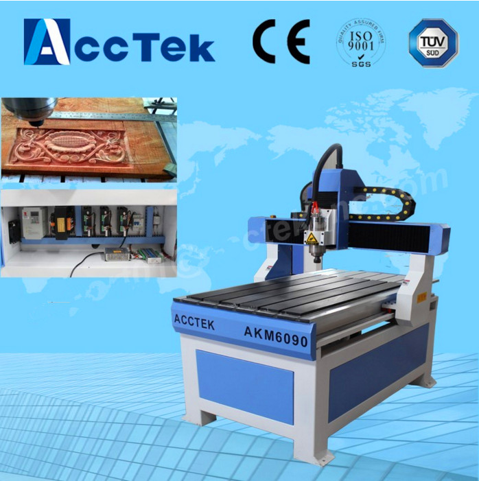 Good quality cautery on wood / water cooled spindle motor cnc router 0609 / stone carving cnc machine tools 6090