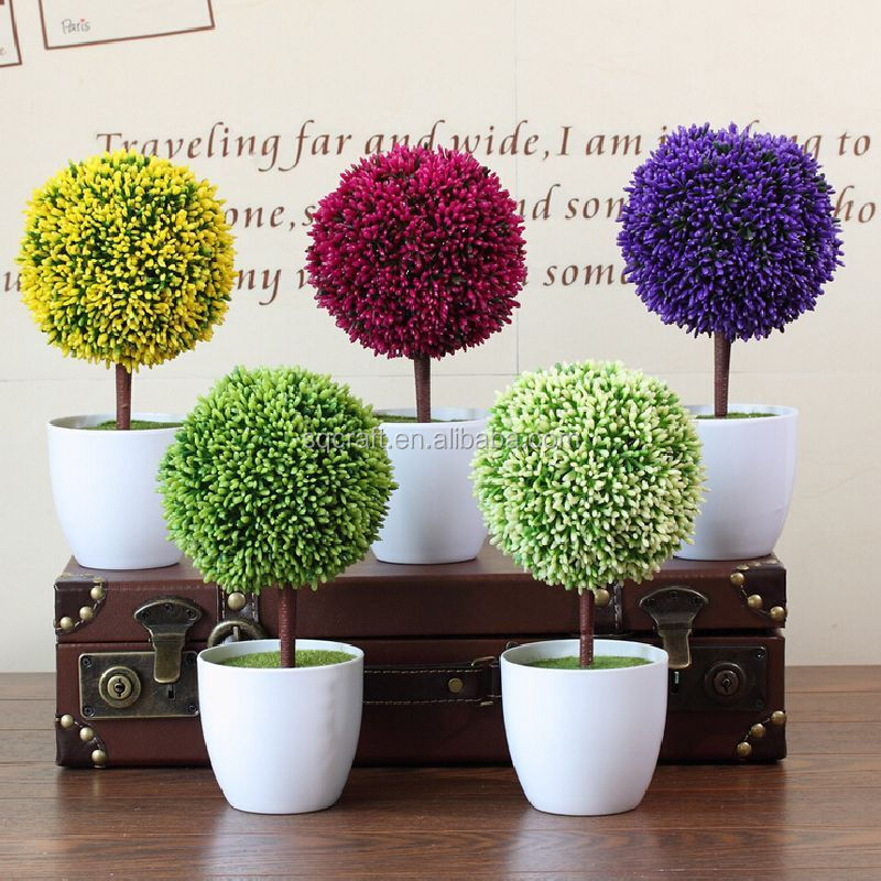 artificial potted plant/plastic table small plant pots/artificial
