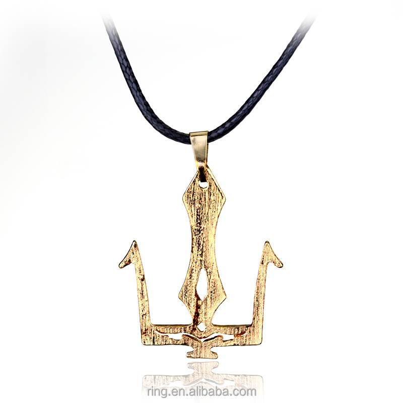 monty pawnbrokers greek gold poseidon genuine s pendant yellow product guaranteed