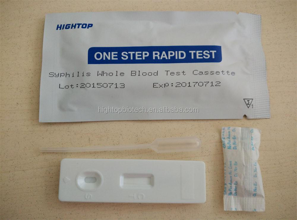 Rapid Syphilis Test One step Home Syphilis Test, whole blood test strip/cassette ,self testing kits