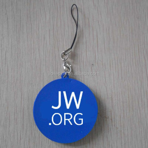 Custom Printing Jw.org Soft PVC Mobile Phone Pendant Charm for Keychains