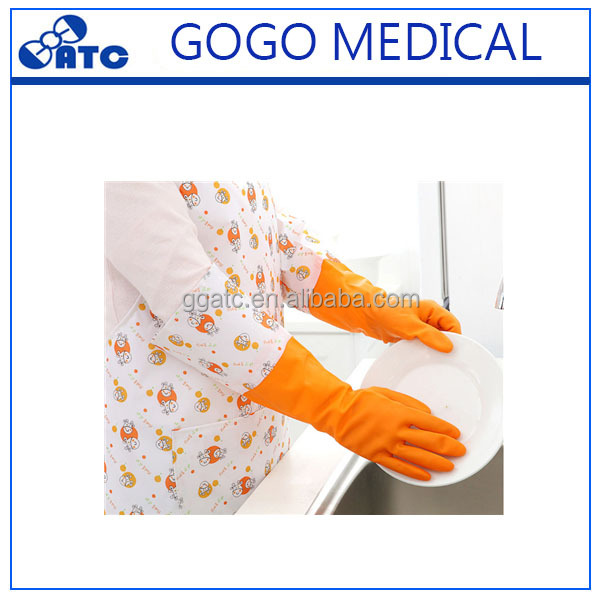 Long type latex cleaning gloves /hand gloves kitchen gloves for home work with beautiful colors
