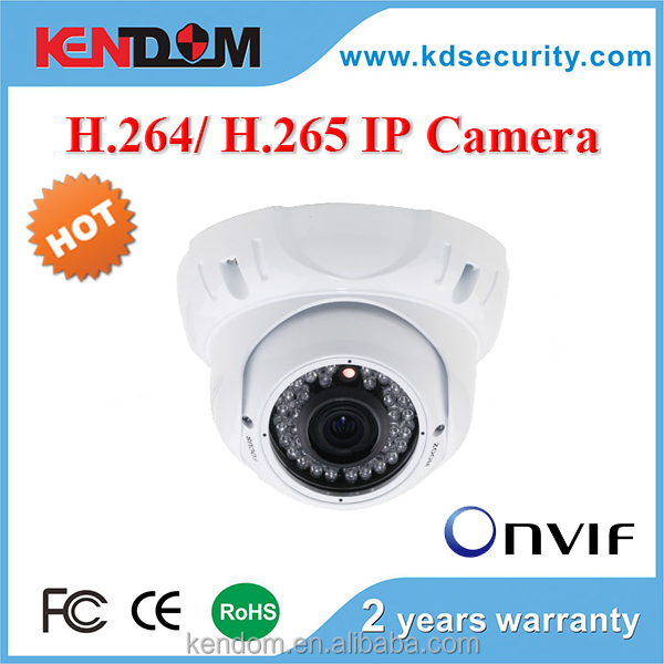 KENDOM IP CCTV Camera Vandalproof Eyeball Dome Hot Case H.265 IP Camera with free APP, CMS, P2P IP Network Camera networkcamera