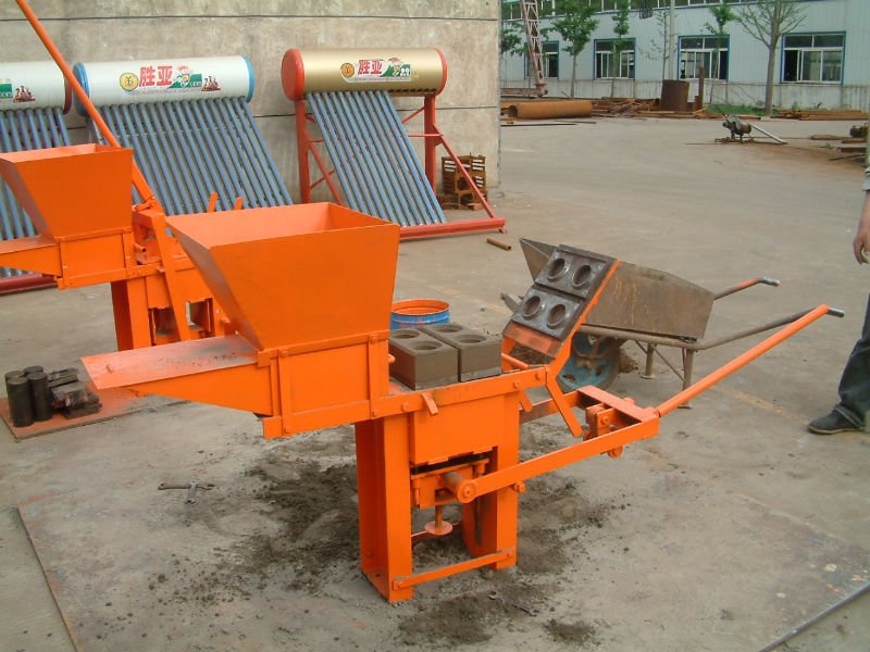 Shengya Industri Kecil Interlocking Manual Tanah Batu Bata Mesin QMR2-40
