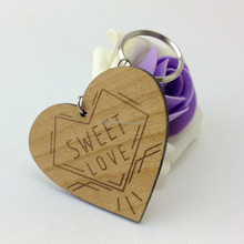 Hot sell Popular wood keychain promotional gifts and crafts sd-314