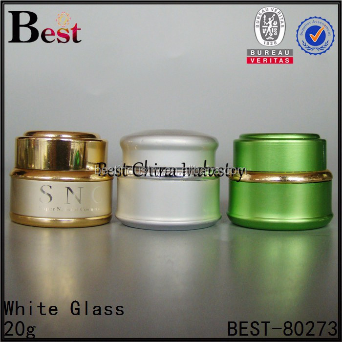 3sets Skin White glass material Classic WHITENING Face Cream Proven to Whiten Skin-alibaba green/gold/silver jars20g for sale