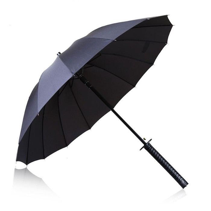 Men trend black Samurai sword rapier handle umbrella