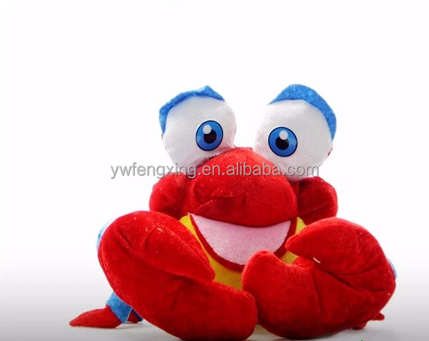 Primary Colored Sea Ocean Plushie Stuffed Animal Toy Doll Plush Crab