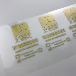 high quality custom gold Tagless Heat Transfer Clothing Labels for t-shirt