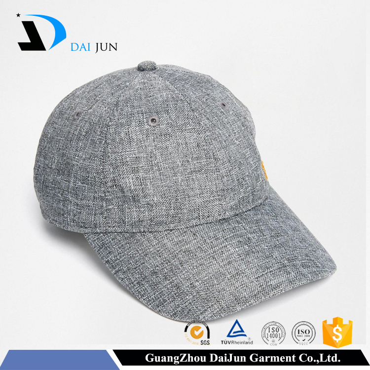 Daijun Brand High Quality Hot Sale Men Heather Grey Plain Cotton Customized T Shirts And Caps